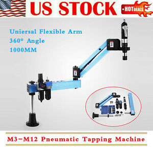 Arm Air Tapping Flexible Pneumatic Machine Tapping Multi direction M3 m12 Iso
