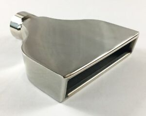 Exhaust Tip 7 75 X 2 25 Outlet 10 00 Long 2 25 Inlet Rolled Rectangle Slant S