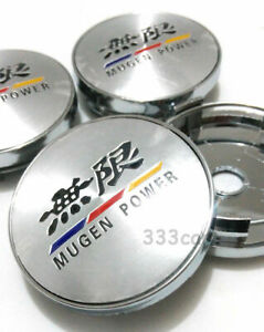 New 4x 60mm Mugen Power Wheel Center Caps Cover Fit Accord Civic Fit City