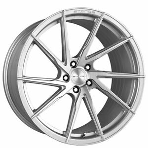 4ea 19 Staggered Stance Wheels Sf01 Brush Face Silver Rims S8