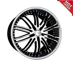 4ea 22 Staggered Xix Wheels X23 Black Machine With Ss Lip Rims S6