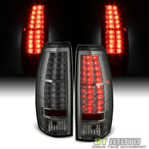 Smoked 2007 2013 Chevy Avalanche Lumileds Led Tail Lights Brake Lamps Left right