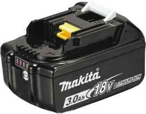 Makita 18 Volt Lithium ion Power Tool Battery 3 Ahr Capacity 30 Min Charge T