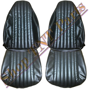 1973 1976 Dart Duster Seat Covers Dodge Front Bucket Upholstery Skins Black