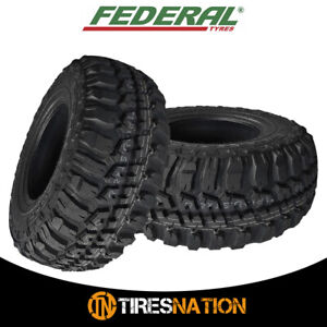 2 New Federal Couragia M t Lt265 75r16 123q All Terrain Mud Tires