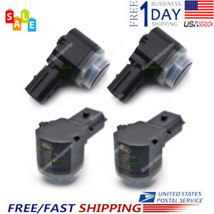 New 4pcs Pdc Bumper Reverse Backup Car Parking Aid Assist Sensors For Ford Black