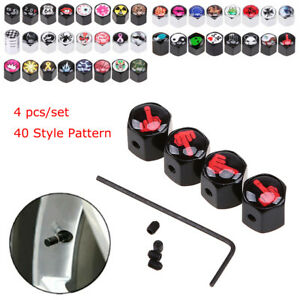 40 Style Car Wheel Tire Valve Stem Caps Cover Dust Anti theft For Bmw Toyota