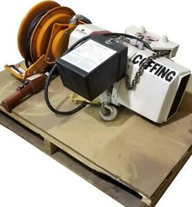Coffing 1 Ton Electric Chain Hoist W Trolley And Cord Reel 240 480v 3 Ph