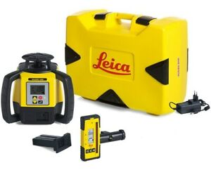 Leica Rugby 680 Dual Grade Laser Level W Rod Eye Li ion Battery