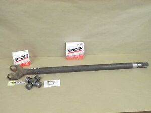 Ford F350 Dana 60 Front Inner Axle Shaft 1989 1997 Rh Long Side With New U joint