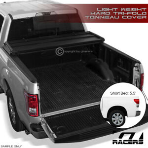For 2007 2016 Toyota Tundra 5 5 Ft 66 Short Bed Tri fold Hard Tonneau Cover Lw
