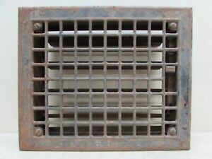 Antique 1915 Floor Register Heat Air Flow Wall Vent Grate Architectural Salvage