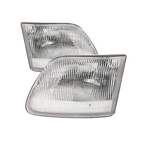 Headlights Pair Left Right Set Fits Ford F150 97 03 Expedition 97 02