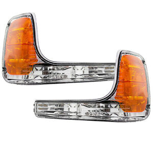 Park Signal Lights Set Pair Fits 99 00 Cadillac Escalade 99 00 Gmc Yukon Denali