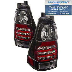 Tail Lights Pair Clear Lens Black Left Right Set Fits 06 2009 Toyota 4runner