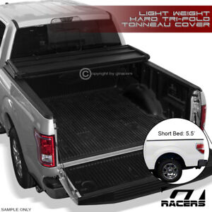 For 2004 2014 Ford F150 Super Crew Cab 5 5 Ft Bed Tri Fold Hard Tonneau Cover Lw