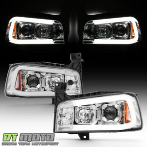 2006 2007 2008 2009 2010 Dodge Charger Led Tube Projector Headlights Headlamps