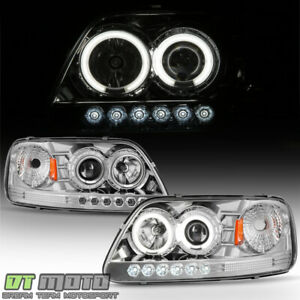 Chrome 1997 2003 Ford F 150 F150 Expedition Led Ccfl Halo Projector Headlights
