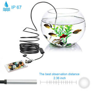 20m Usb 6led Endoscope Waterproof Borescope Inspection Camera For Android Y8b5