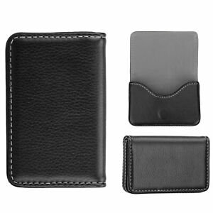 Unisex Leather Business Id Credit Card Pocket Case Wallet Holder Gift Men Women