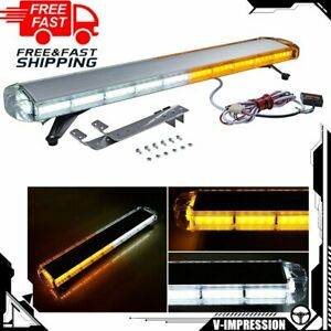 88 Led 47 Light Bar Warn Emergency Beacon Tow Truck Strobe Snowplow Amber White