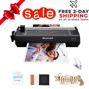 Laminator Machine Black Hot Roller For Home Office 25 Laminating Pouches A3a4a5