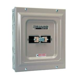 Utility generator 60 Amp Manual Transfer Switch Double pole Indoor Installation