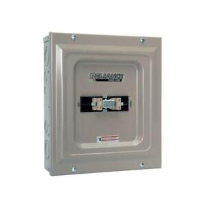 Utility generator 100 Amp Manual Transfer Switch Double pole Indoor Installation
