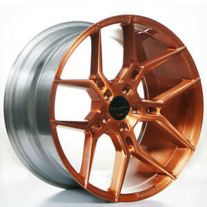 4ea 22 Staggered Giovanna Wheels Haleb Brushed Copper Rims S2