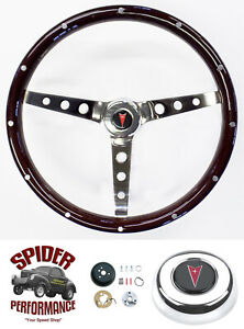1964 1966 Lemans Catalina Bonneville Steering Wheel 15 Classic Wood