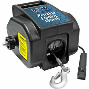 Towpower Portable Electric Remote Volt Ball Winch Boat Truck Trailer Cable