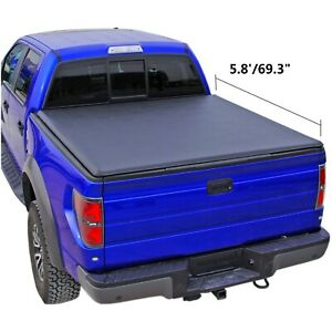 Tonneau Cover Roll Up Truck Bed For 2007 2013 Silverado sierra 1500 5 8 69 3