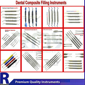 Dental Composite Filling Instruments Restoration Flat Plastic Placement Lab Tool