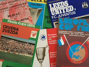 European Uefa Competition Semi Final amp; Final Programmes *Choose from list* GBP 15.00