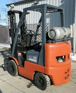 Nissan Model Mapl01a18lv 2005 3500 Lbs Capacity Great Pneumatic Tire Forklift