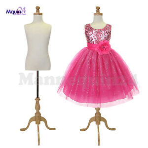2 Pack Kids Dress Form Mannequin For 7 8 Yr Wooden Tripod Base Child Display