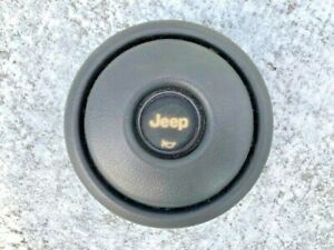 Oem Jeep Cj Wrangler Yj 76 95 Steering Wheel Horn Cap Center Gray Cherokee Xj