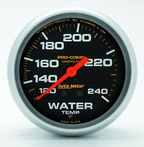Auto Meter 5433 Gauge Water Temperature