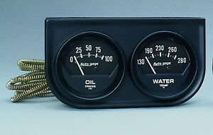Auto Meter 2345 Gauge Oil Pressure Water Temperature