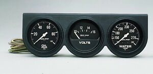 Auto Meter 2398 Gauge Oil Pressure Voltmeter Water Temperature