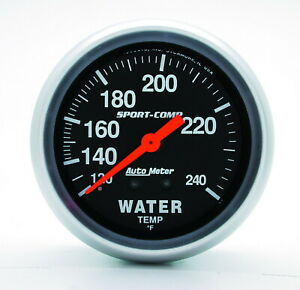 Auto Meter 3433 Gauge Water Temperature