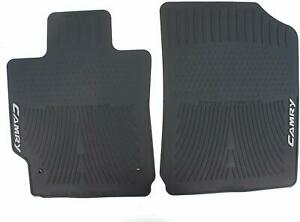 Genuine Oem Black Front Rubber All Weather Floor Mats For Toyota Camry 07 11