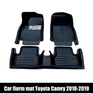For Toyota Camry 2018 2020 Car Floor Mats Front Rear Liner Waterproof Auto Mats