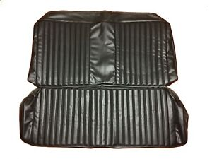 1973 1976 Dart Duster Seat Covers Dodge Coupe Hardtop Rear Upholstery Skins Blk