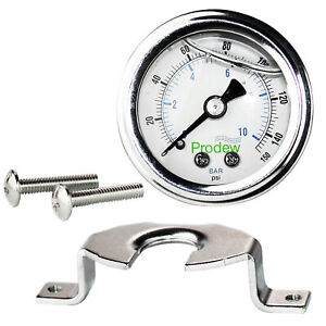 Liquid Filled Pressure Gauge 1 4 Tube Npt 0 150 Psi 1 5 Inch Face