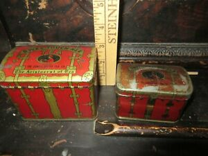 Swee-Touch-Nee set of 2 vintage Tea tins