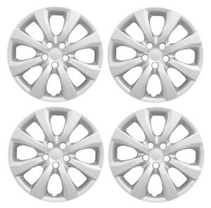 New 2020 Toyota Corolla 16 8 Spoke Silver Hubcap Wheelcover Set Of 4