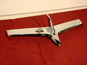 55 56 1955 1956 Chevrolet Truck Cameo Hood Ornament Nice Original Chrome