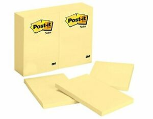 Post it Notes 4 X 6 inches Canary Yellow 12 pads pack