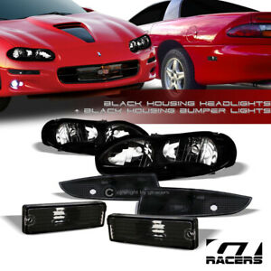 Black Headlights Nb bumper Signal Lamps rear Side Marker K2 For 1998 2002 Camaro